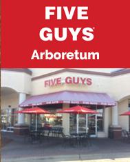 Arboretum Five Guys