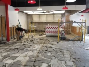 Five Guys Blakeney renovation is underway!